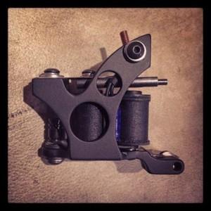 Black tattoo gun