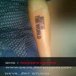 Cm punk tattoo devil art studio