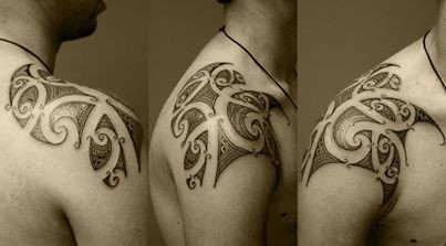 Polynesian tattoo by asif sultan