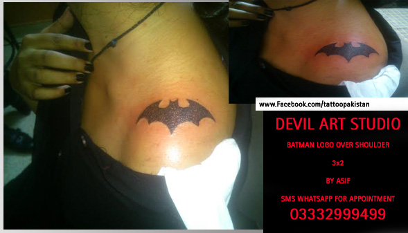 Batman logo tattoo