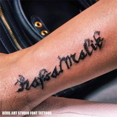 custom font tattoos