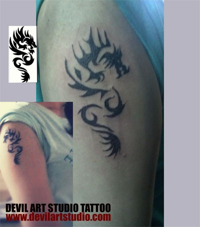 the girl with the dragon tattoo Done by Asif Sultan at devil art studio