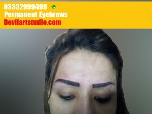 Permanent tattoo eye brows done in Pakistan
