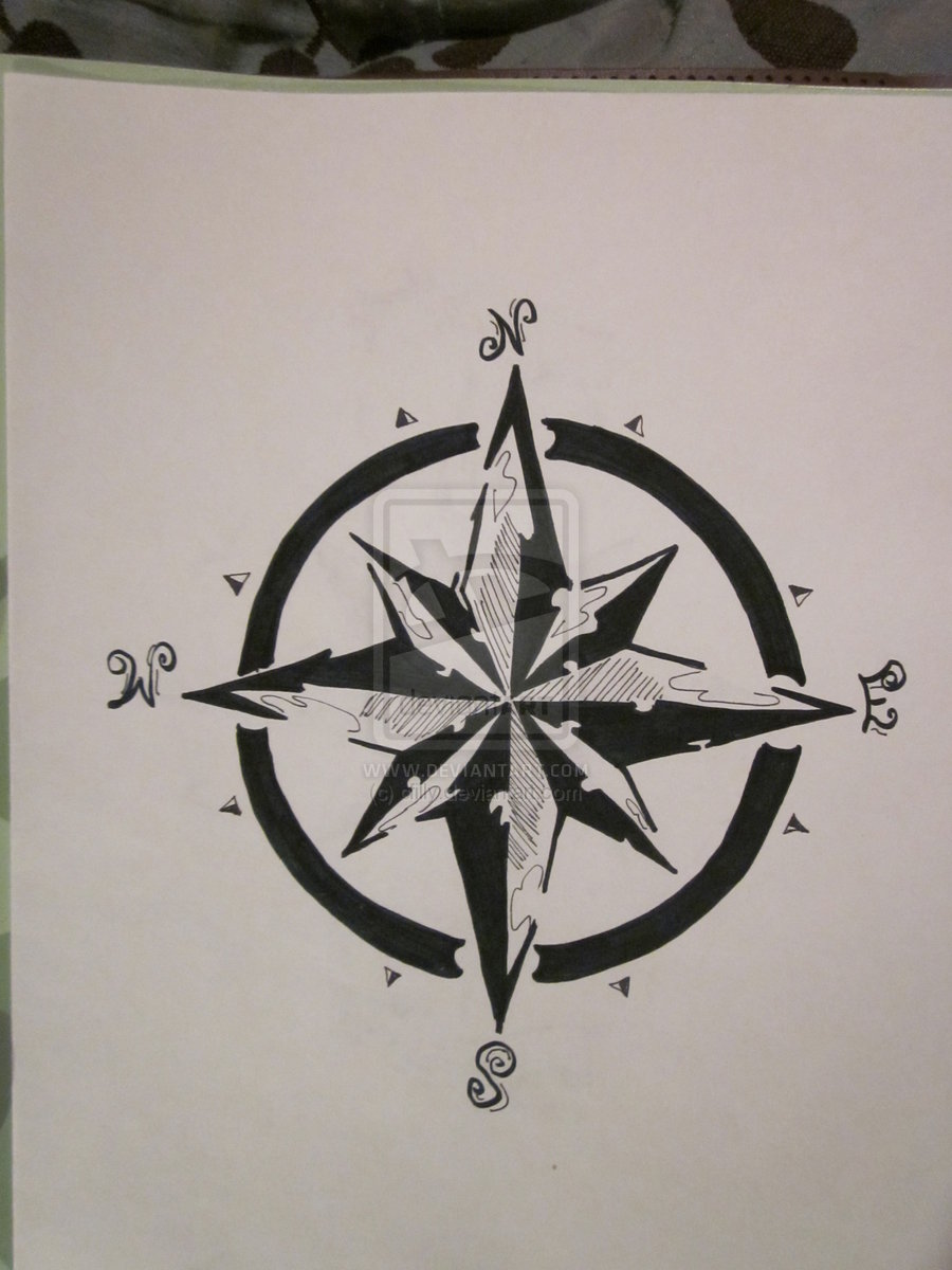 Amazing New Black Nautical Compass Tattoo Design Tattoo Studio In